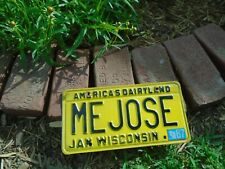 1987 Wisconsin vanity ME JOSE License Plate, personalized
