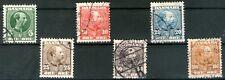 Denmark 1907 King Christian IX set of 6 Nicely Used