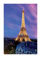 Quadro su pannello in legno MDF Eiffel Tower Misura 60x90 CM