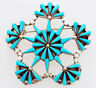 Native American Zuni Handmade Sterling Silver with Turquoise Pin/Pendant