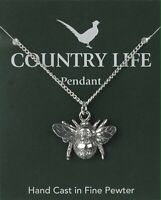 Bee Pewter Pendant On A Chain