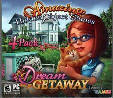 GARDENSCAPES + MANOR MEMOIRS + LOVE STORY Hidden Object 4 PACK PC Game NEW