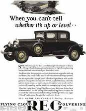 REO 1928 - REO Ad - Flying Cloud Wolverine - When you can't tell whether it's up