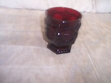 VINTAGE---AVON---CAPE COD---Ruby Red Glass---SUGAR BOWL