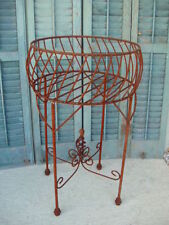 """33"""" Rustic Wrought Iron Planter Urn with Twist Metal Planters Garden Plant Stand"""