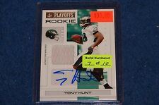 TONY HUNT EAGLES PENN STATE 2007 NFL PLAYOFFS GOLD JERSEY AUTO 07/10 (WB315)