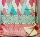 New Arrivals Soft Plush Throws With Sherpa Reverse Floral Design Double  Multi