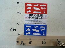 STICKER,DECAL MODEL 81 SCHAESBERG DRAF EN RENBAAN MODELBAU EINDHOVEN ESSEN