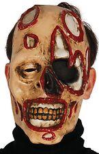 Para Hombre Tiro Pistola de sangre Máscara Facial Zombie Fancy Dress Costume Accesorio Halloween