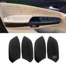 2*Black Leather Front Door Panels Armrest Cover for Honda Accord 2008-2012 Sedan