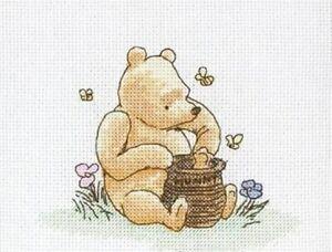 Classic Winnie the Pooh and Honey Disney_Cross Stitch Pattern