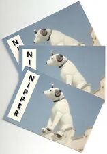 RCA VICTOR NIPPER DOG LARGE STATUE POSTCARDS - THREE (3) – FROM 1994 – ALBANY NY