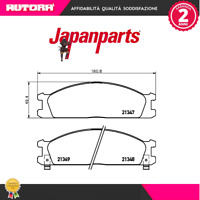 PA137AF Kit pastiglie freno a disco ant.Nissan (MARCA-JAPANPARTS)