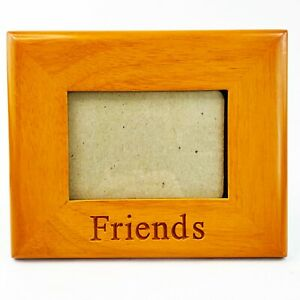 "Fetco Beacon Hill Wood Picture Frame FRIENDS Freestanding Wall Mount 5""x3"" photo"