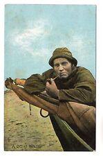 Fisherman - Photo Postcard c1910 / Fishing