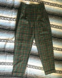 Vintage 1980s  1990s Lord Isaacs Sport Red  White Stripe Print Pants Labeled Size 6 25 Inch Waist Made in USA