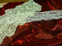 lot =le joli  tissus broderie et le galon coton blanc