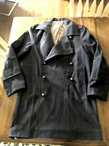 e1c MENS Pea Coat Jacket Double-Breasted Men's Navy Size L E.U.C