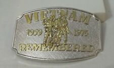 With Certificate Of Authenticity Vietnam Belt Buckle 1959-1975 Remembered