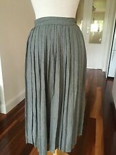 Sussan Black & White Checked Retro Pleated Skirt - Size 8