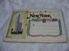 """Lot77s - c1910 NEW YORK """"The Gate To The New Wolrd"""" USA FOLDING POSTCARD"""