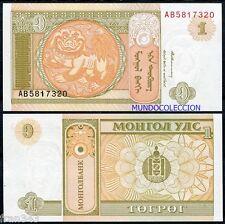 MONGOLIA 1 Tugrik 1993 Pick 52 SC  / UNC