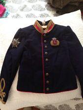 NWT £605 Ralph Lauren Girls Size 6 Blue Officer's Military Jacket Stella Band