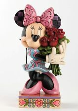 Disney Traditions Minnie Mouse with Flowers Figurine NEW in BOX