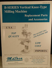 Bridgeport mill PARTS LIST MATACO CATALOG lathe, CNC, grinder, TOOLING, wire edm