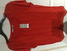 Ladies orange t-shirt, size 10, Asda