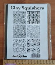 Clay Squishers, rubber stamps for polymer clay with 6 lovely designs