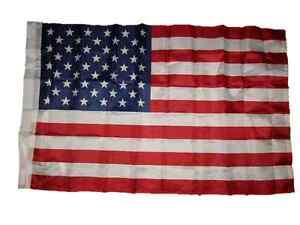 2.5x4 2.5 x 4ft US USA American 50 Star Flag Sleeve & Hem Banner Pocket