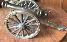 More details for vintage sold brass cannon 20cmx10x9 weighs 856grams