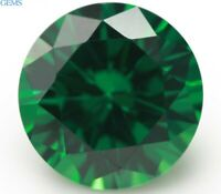Natural Green Round Emerald 9.0mm 4.05ct Faceted Cut AAAAA VVS Loose Gemstone