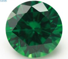 Green Round Emerald 9.0mm 4.05ct Faceted Cut AAAAA VVS Loose Stone