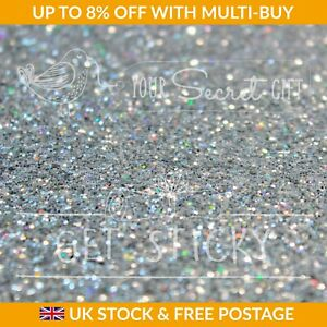 Silver Crystal Chunky Bling Glitter Wallpaper & Border Fabric SOLD BY THE METRE
