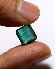 4.51 Rare Quality Natural Emerald Zambian Green Octagon Cut Unheated Top Gem AA+