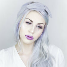 Light Grey Faux Suede wire headband