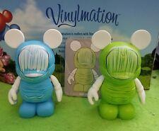 "Disney Vinylmation 3"" Park Set 6 Urban Blue Thumb Variant Lot Green with Card"