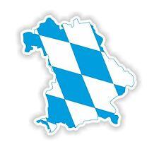 Sticker Silhouette Bavaria (Freistaat Bayern) Map Flag Bumper Locker Tablet