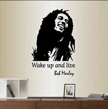 Bob Marley wall decal 20�x40�. Wake up and live wall decal. Vinyl sticker