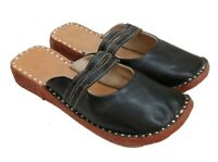 womens clogs shoes black leather shoes slippers ladies mules half mules shoes