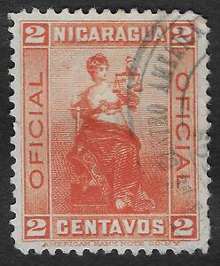 NICARAGUA 1900 Justitia 3c Stamp Used (JBX)