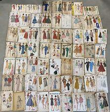 Vintage 60+ Lot Women's 40s 50s 60s Butterick McCalls Sewing Dress Patterns