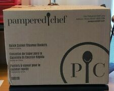 Pampered Chef 100118 Quick Cooker Steamer Baskets (2) New In Box