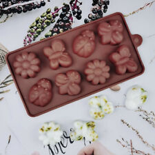 Butterfly Ladybird Flowers Ice Silicone Mould Mold Wax Melts Ice Chocolate Candy
