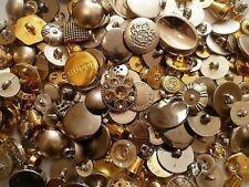 Bottone Metallo Stemma Oro Lucido Gambo Lavorato 25x25 Mm 10885//40