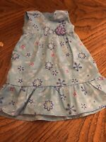 American Girl  Kanani Retired Meet Outfit Blue Floral Dress ONLY EUC RETIRED