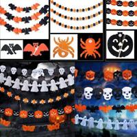 Halloween Pumpkin Spider Garland Hanging Ghost Paper Festive Home Party Decor