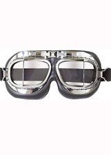 Década de 1940 Biggles piloto Gafas de vuelo de lujo de cromo